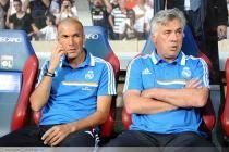 Zinedine ZIDANE / Carlo ANCELOTTI - 24.07.2013 - Lyon / Real Madrid - Match Amical -