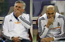 Carlo Ancelotti / Zinedine Zidane - 02.01.2014 - Paris Saint Germain / Real Madrid - match amical - Doha