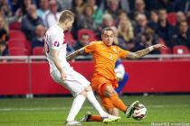 Caner Erkin / Gregory van der Wiel - 28.03.2015 - Football - Pays Bas / Turquie - Eliminatoires Championnat d'Europe 2016-