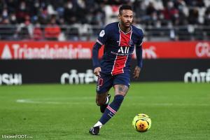 Neymar, attaquant du Paris Saint-Germain