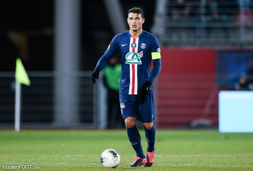 Thiago Silva, sous les couleurs du PSG, la saison passée