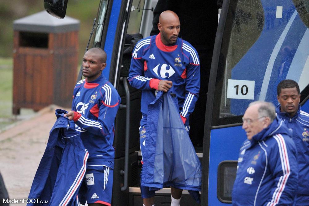 Nicolas Anelka avec l'Équipe de France