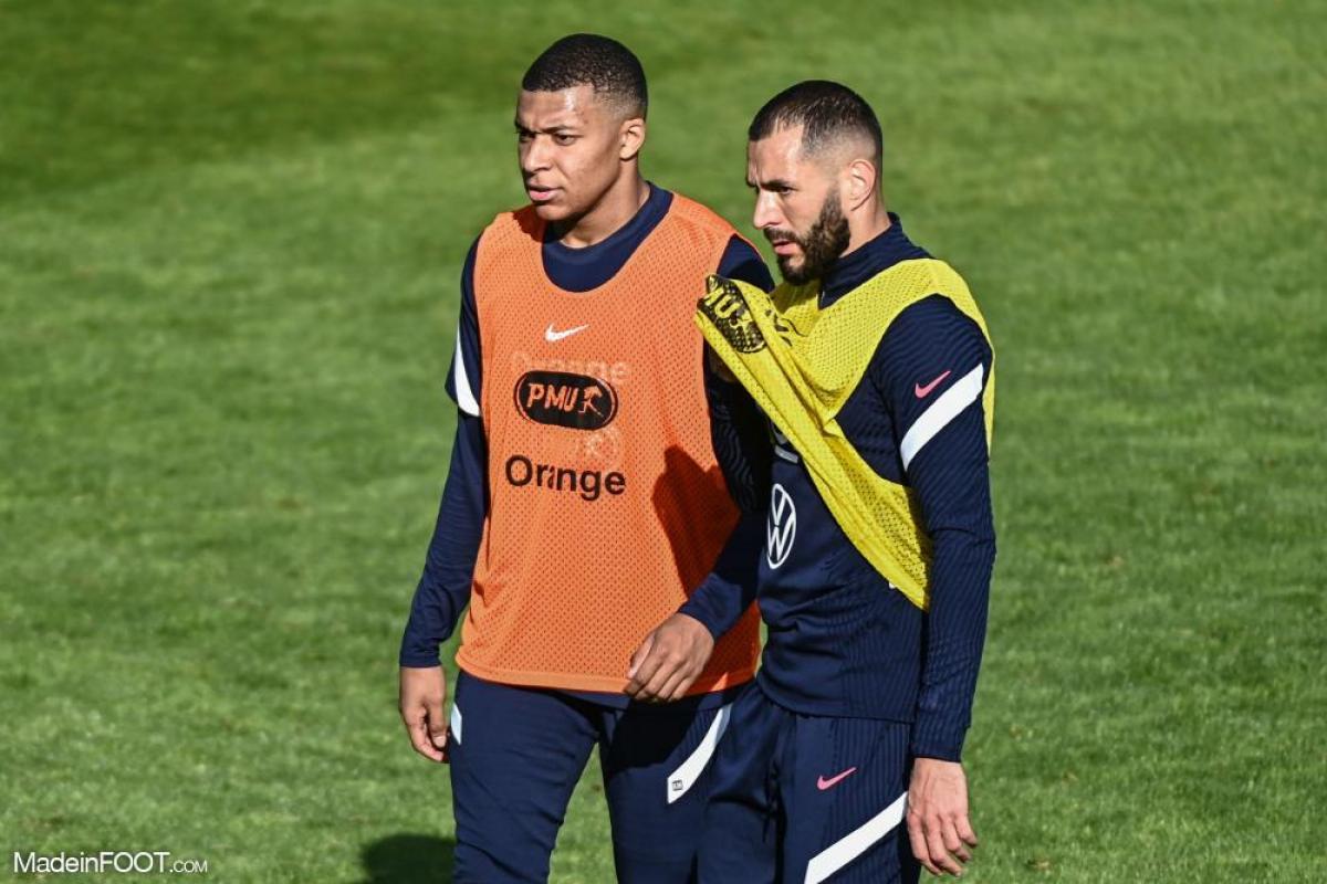 Karim Benzema et Kylian Mbappé