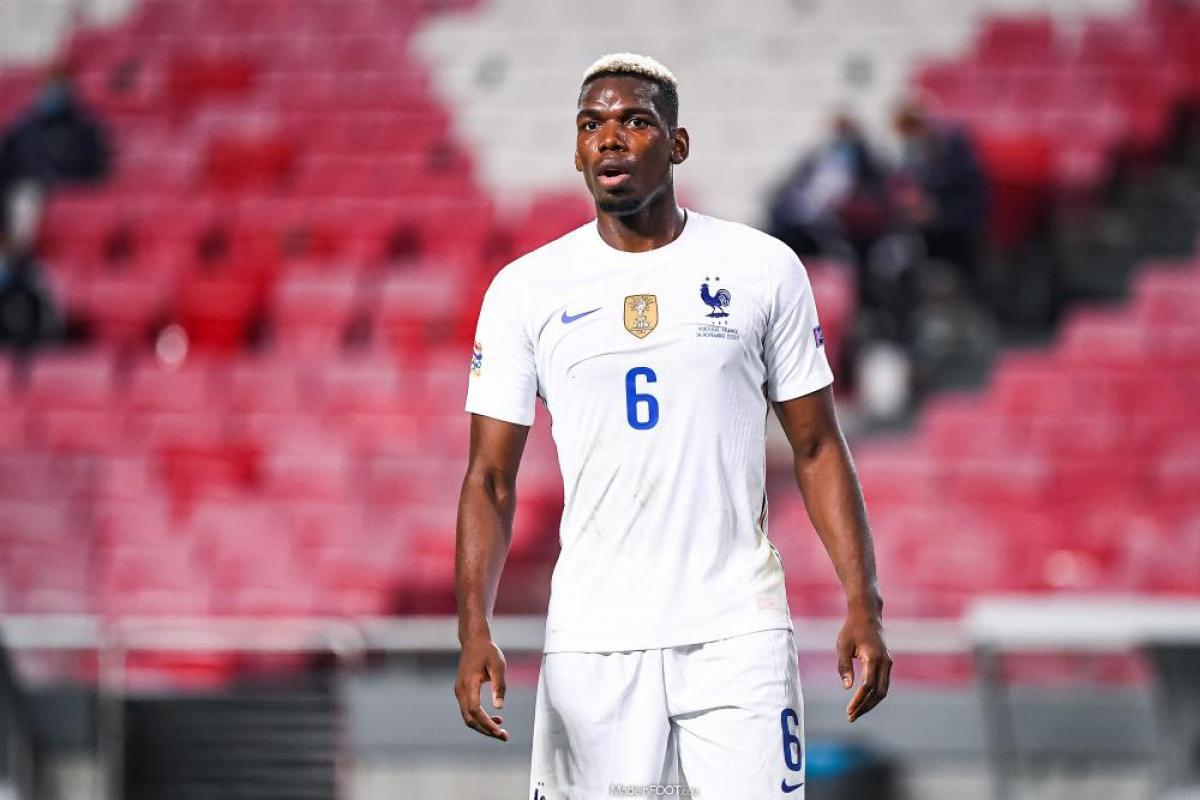 Paul Pogba avec l'Equipe de France