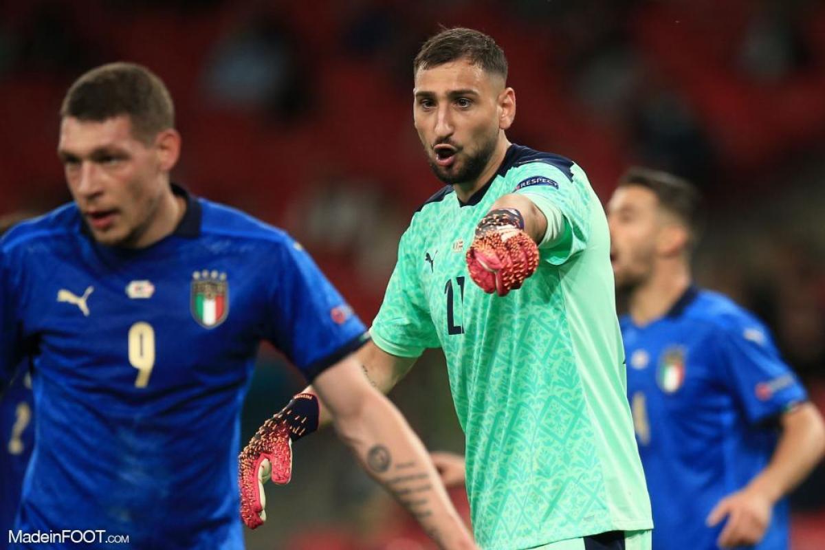 Donnarumma était titulaire avec l'Italie