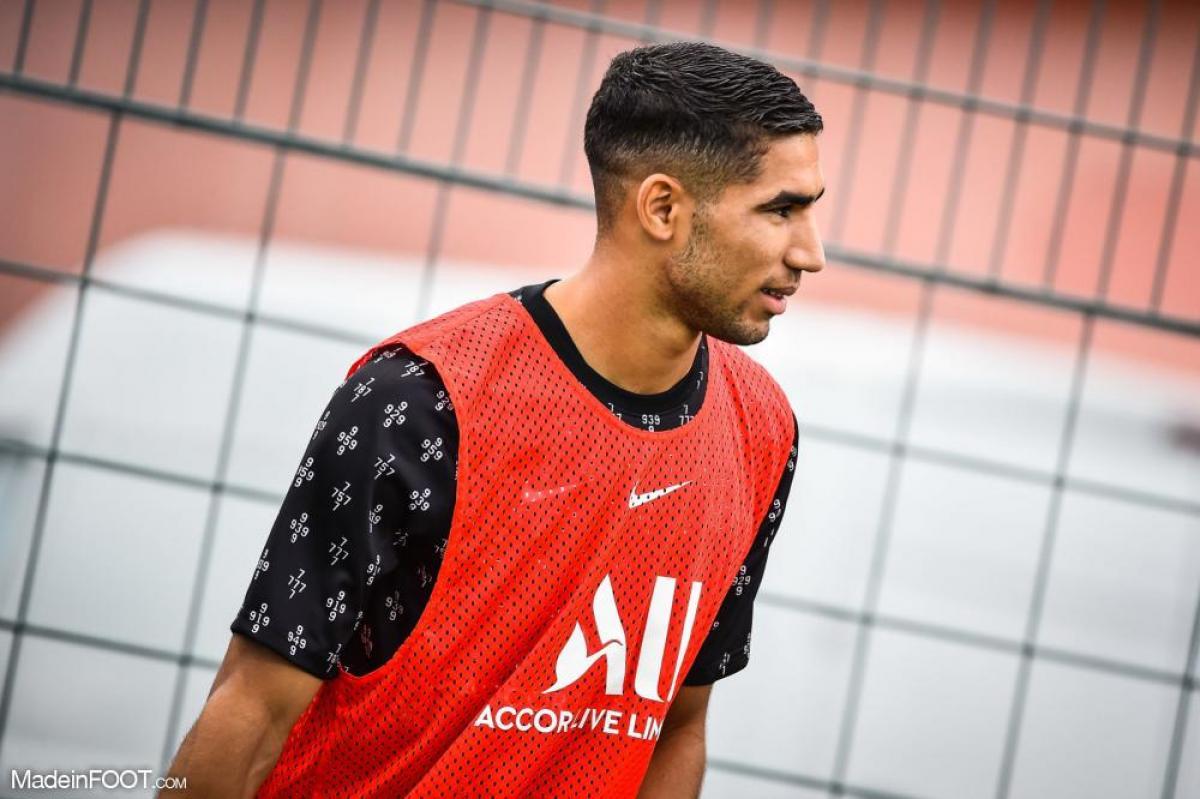 Achraf Hakimi pendant la pré-saison.