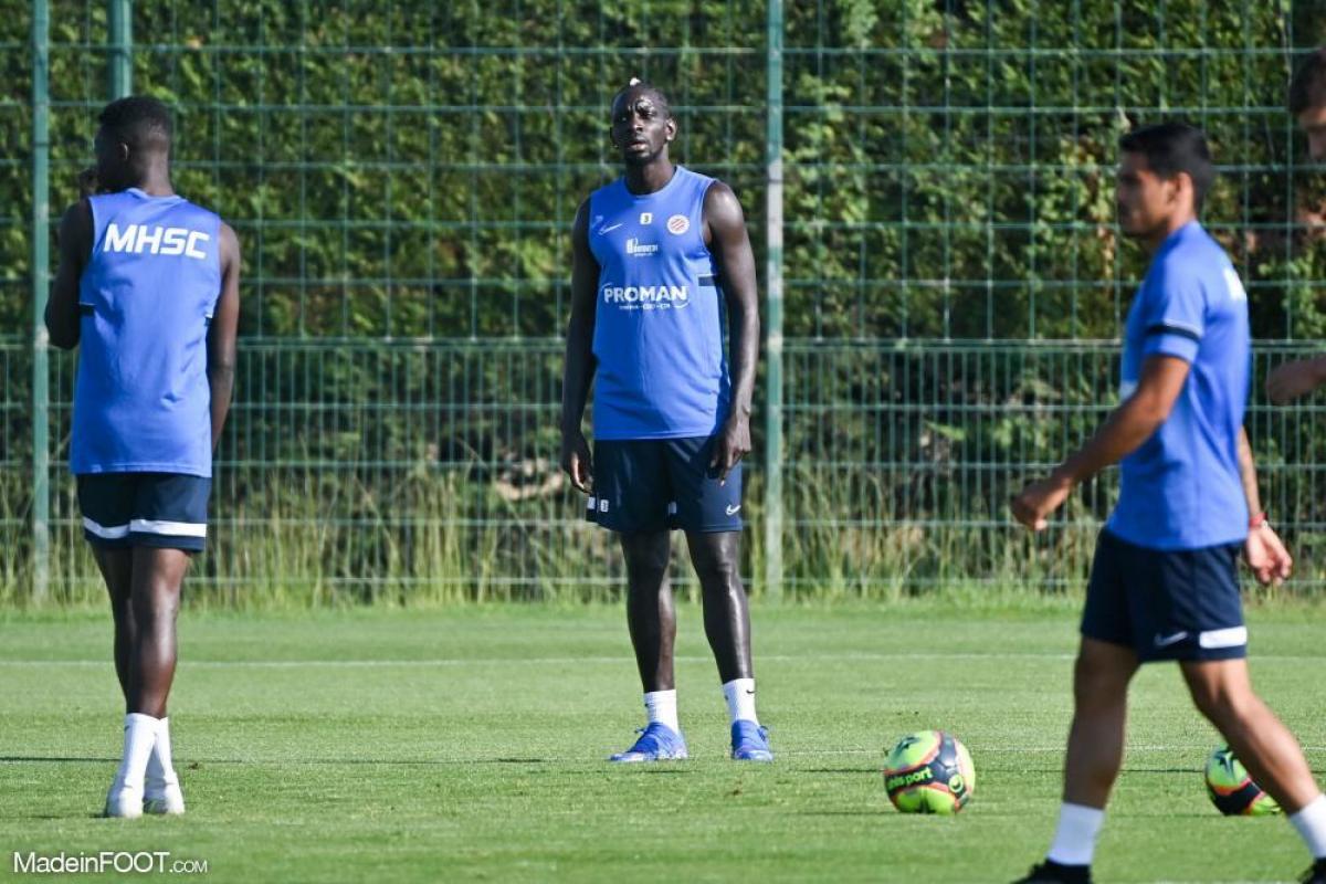 Mamadou Sakho à l'entraînement avec le MHSC