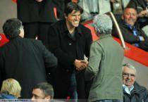 Gregory COUPET / Raymond DOMENECH  - 21.03.2012 - PSG / Lyon - 1/4 Finale Coupe de France 2011/2012 -