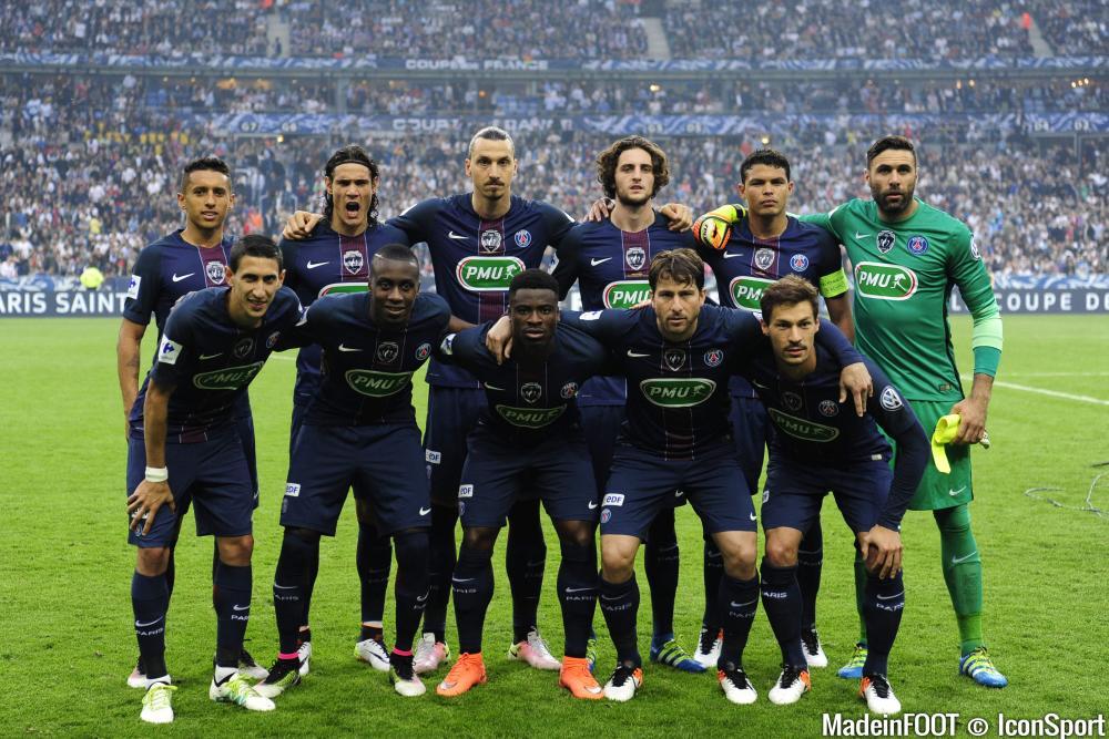 L'équipe du PSG avant la finale de la Coupe de France