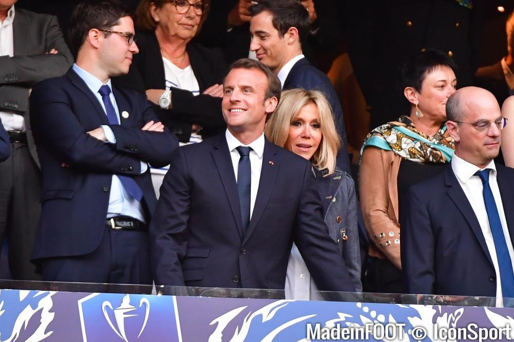 Emmanuel Macron a apporté son soutien aux Bleus cet après-midi