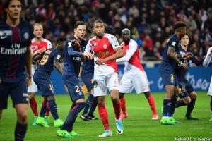 Draxler, Cavani (PSG) et Mbappé, Bakayoko, Germain (ASM)