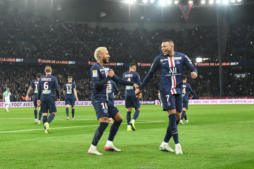 Kylian Mbappé et Neymar contre Saint-Étienne