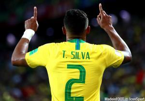 Thiago Silva, le défenseur central du Brésil et du PSG.