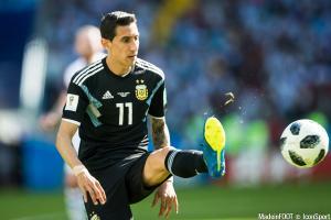 Angel Di Maria, le milieu de terrain offensif du PSG et de l'Argentine.