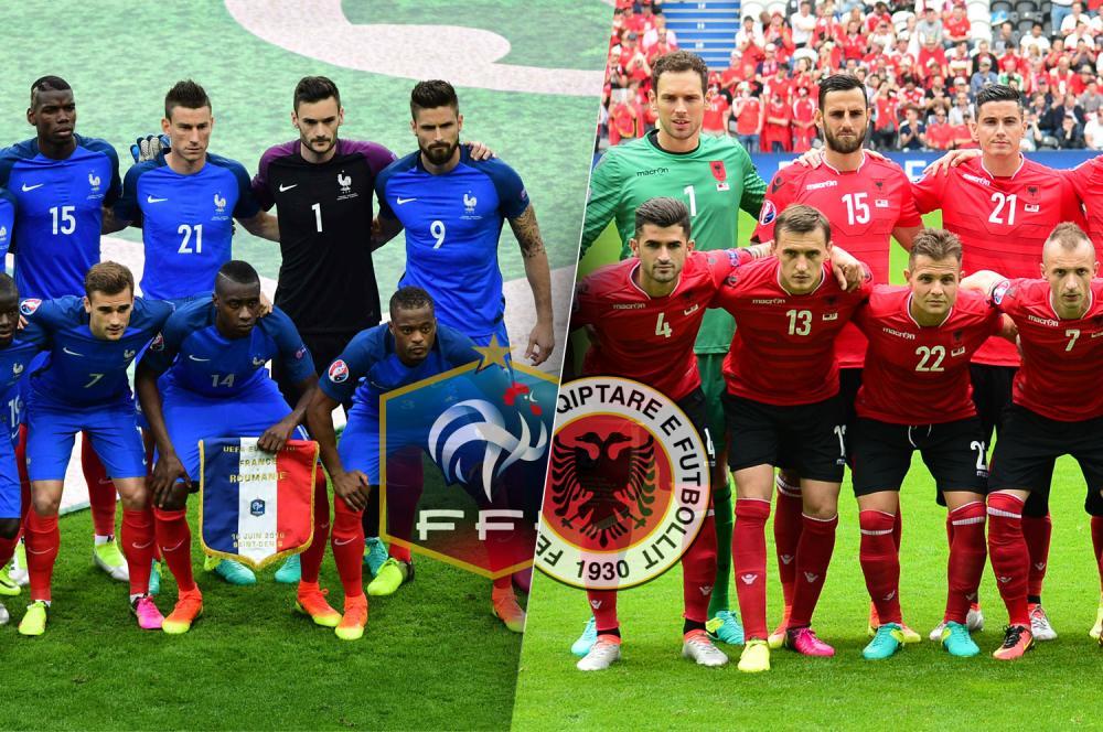 Les compos officielles du match entre l'équipe de France et l'Albanie.