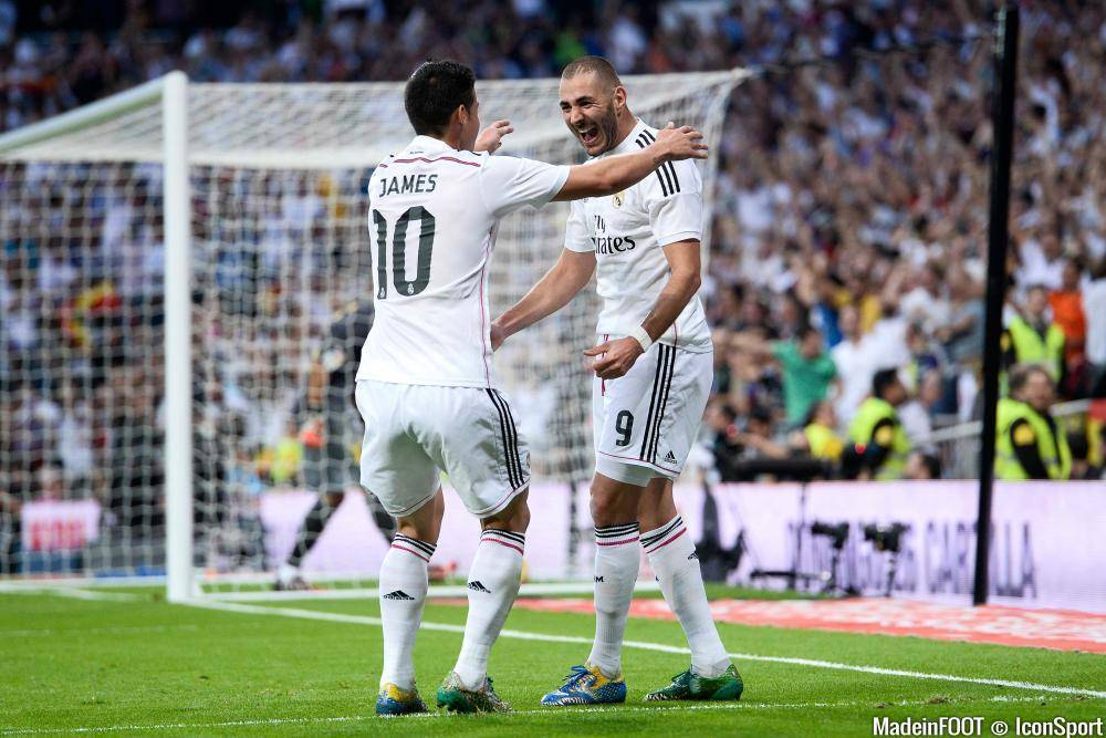 Le Real Madrid devra faire sans Benzema pour la réception du PSG mais pourra compter sur James Rodriguez.