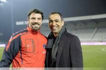 Gregory COUPET - Youri DJORKAEFF - 05.03.2011 - Auxerre / PSG - 26eme journee de Ligue 1 -Auxerre -