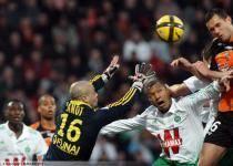 Jeremie JANOT / Sylvain MONSOREAU / Gregory BOURILLON  - 19.03.2011 - Lorient / Saint Etienne - 28eme journee de Ligue 1