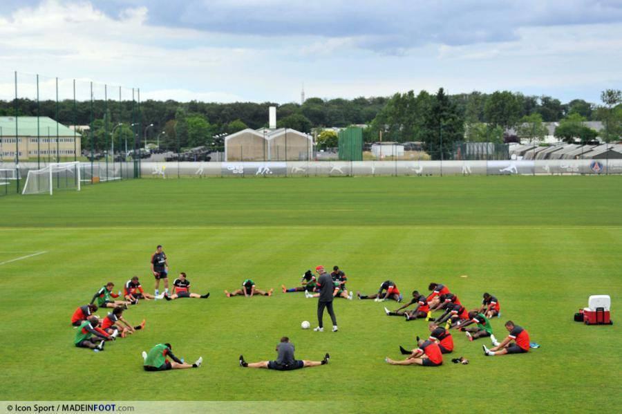 Le PSG s'entraîne à huis Clos au Camp des Loges