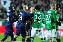 Altercation David BECKHAM / BRANDAO - 17.03.2013 - Saint Etienne / PSG - 29eme journee de Ligue 1 -