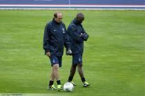Jean Louis GASSET / Claude MAKELELE - 03.07.2013 - Entrainement du Paris Saint Germain -Centre Technique du Football -Clairefontaine-
