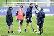 Jean Louis GASSET / Kevin GAMEIRO / Laurent BLANC / Nicolas DOUCHEZ / Claude MAKELELE - 03.07.2013 - Entrainement du Paris Saint Germain -Centre Technique du Football - Clairefontaine-