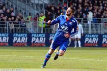 Joie Lisandro LOPEZ (apres goal contre son camp Tripy MAKONDA) - 03.03.2013 - Brest / Lyon - 27eme  Journee de Ligue 1 -Stade Francis Le Ble-