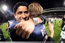 PSG Champion - Nasser AL KHELAIFI / David BECKHAM - 12.05.2013 - Lyon / Paris Saint Germain - 36e journee Ligue 1
