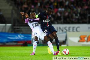 Clarck NSIKULU / Blaise MATUIDI - 22.08.2014 - Evian Thonon / Paris Saint Germain - 3eme journee de Ligue 1 -