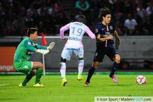 Edinson CAVANI - 22.08.2014 - Evian Thonon / Paris Saint Germain - 3eme journee de Ligue 1 -