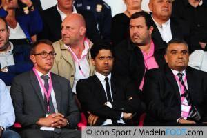 Nasser AL KHELAIFI - 22.08.2014 - Evian Thonon / Paris Saint Germain - 3eme journee de Ligue 1 -