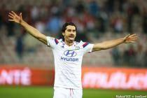 joie de Milan Bisevac - 01.11.2014 - Nice / Lyon - 12eme journee de Ligue 1 -