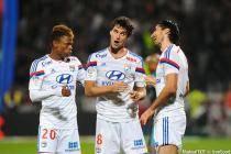Joie Lyon - Clinton NJIE / Yoann GOURCUFF / Milan BISEVAC - 26.10.2014 - Lyon / Marseille - 11eme journee de Ligue 1 -