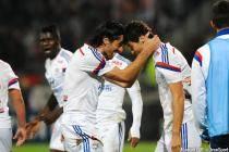 Joie Lyon - Yoann GOURCUFF / Milan BISEVAC - 26.10.2014 - Lyon / Marseille - 11eme journee de Ligue 1 -