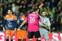Siaka TIENE / Geoffrey JOURDREN / Sebastien DESIAGE / Expulsion Daniel CONGRE  - 22.03.2014 - Nantes / Montpellier - 30e journee Ligue 1
