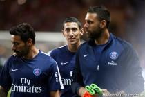 Ezequiel LAVEZZI / Angel Di Maria / Salvatore SIRIGU   - 30.08.2015 - Monaco / PSG - 4eme journee de Ligue 1
