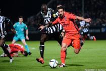 Ezequiel LAVEZZI / Cheikh NDOYE - 01.12.2015 - Angers / PSG - 16eme journee Ligue 1