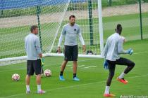 Nicolas Douchez / Mory Diaw / Salvatore Sirigu  - 07.08.2014 - Entrainement Paris Saint Germain - Centre d'entrainement Ooredoo