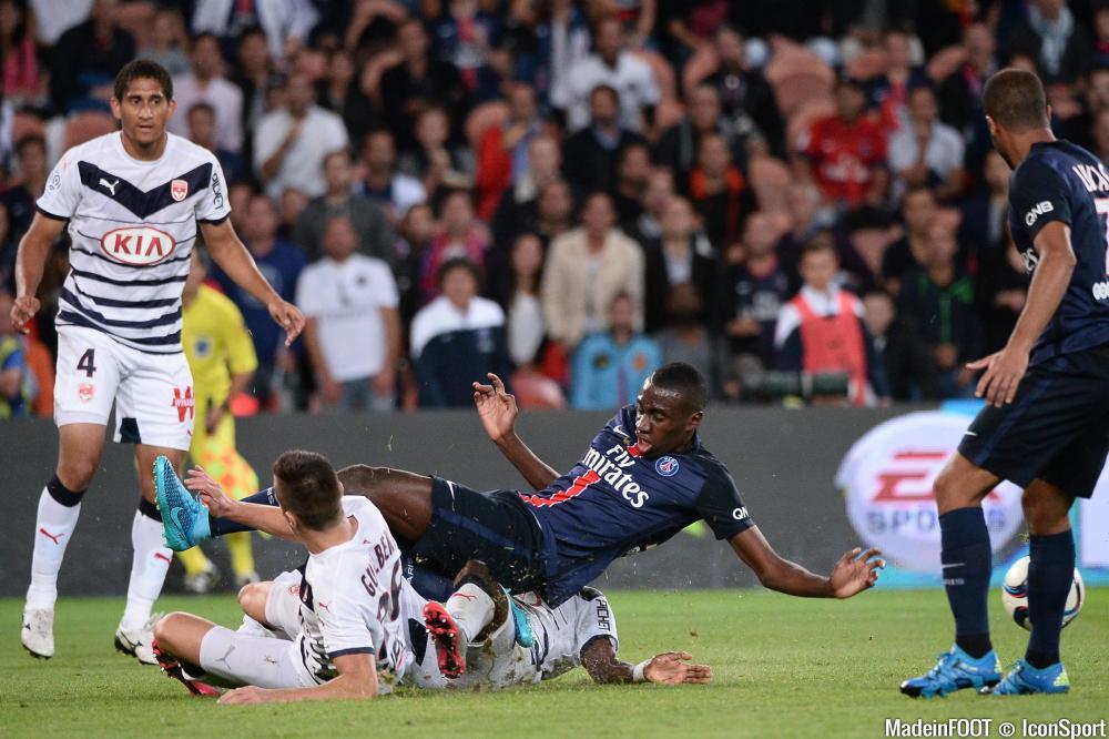 Blaise Matuidi (PSG) s'est blessé contre le SCO Angers, ce mardi soir.