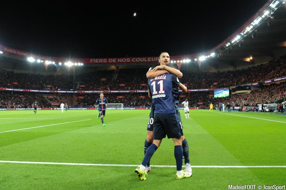 Le duo Ibrahimovic - Di Maria fait le bonheur du Paris Saint Germain