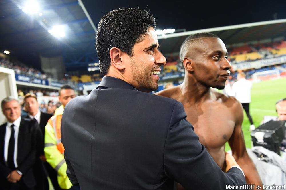 Nasser Al-Khelaïfi était satisfait après la victoire face à l'ASSE (1-3), hier soir.