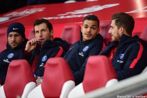 Le banc du PSG à Lille