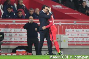 Emery et Verratti (PSG)