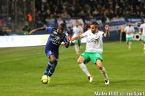 Floyd Ayite during the Ligue 1 between Bastia and Saint-Etienne at Stade Armand Cesari, Bastia, France on 16th April, 2016