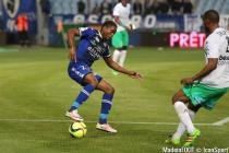Francois Kamano during the Ligue 1 between Bastia and Saint-Etienne at Stade Armand Cesari, Bastia, France on 16th April, 2016