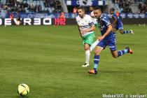 Gael Danic during the Ligue 1 between Bastia and Saint-Etienne at Stade Armand Cesari, Bastia, France on 16th April, 2016