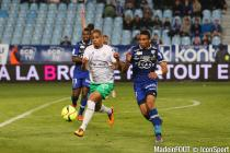 Kevin Monnet Paquet during the Ligue 1 between Bastia and Saint-Etienne at Stade Armand Cesari, Bastia, France on 16th April, 2016