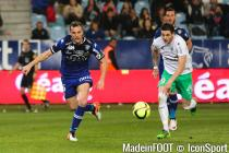Nolan Roux during the Ligue 1 between Bastia and Saint-Etienne at Stade Armand Cesari, Bastia, France on 16th April, 2016