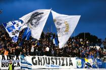 Supporters Bastia during the Ligue 1 between Bastia and Saint-Etienne at Stade Armand Cesari, Bastia, France on 16th April, 2016