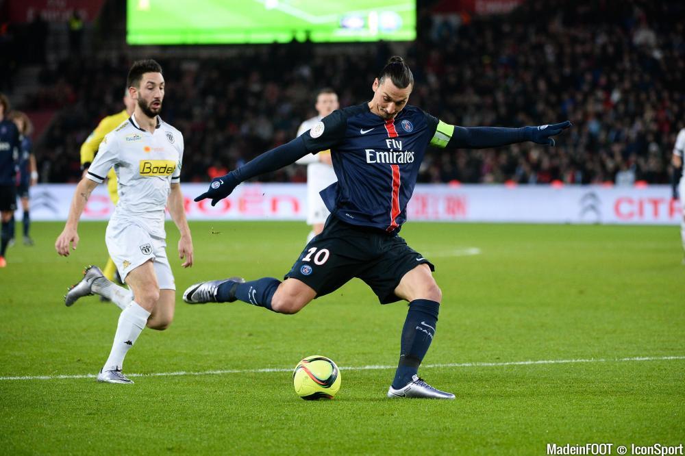 Zlatan Ibrahimovic, lors de sa dernière saison à Paris.